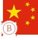image drapeau chinois stylisé intermédiaire