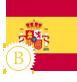image drapeau espagnol stylisé intermédiaire