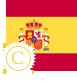 image drapeau espagnol stylisé confirmé