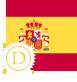 image drapeau espagnol stylisé commercial
