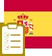 image drapeau espagnol stylisé test
