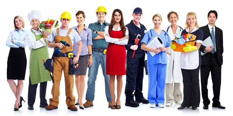 Groupe de personnes salariées en entreprise